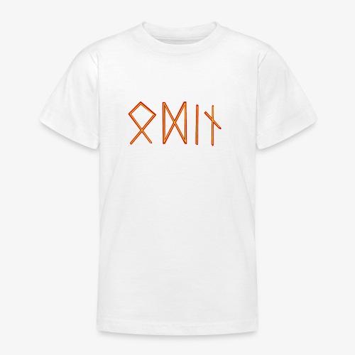 Odin in Runenschrift - Teenager T-Shirt