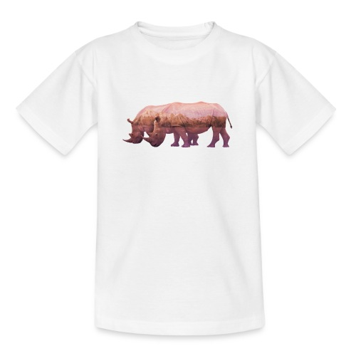 Nashorn Alpen - Teenager T-Shirt
