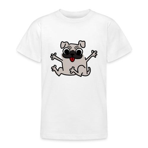 crazy pug - Teenager T-Shirt