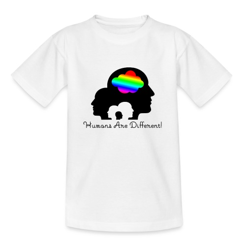 Humans are different Bunt - Teenager T-Shirt
