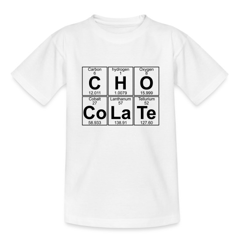 C-H-O-Co-La-Te (chocolate) - Full - Teenage T-Shirt
