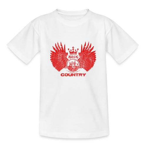 IH KING of the COUNTRY (Red design) - Teenager T-shirt