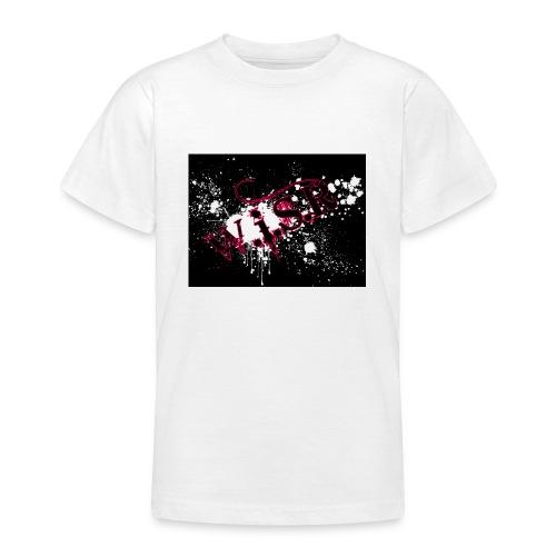 wisr puna musta splash t-paita - Nuorten t-paita