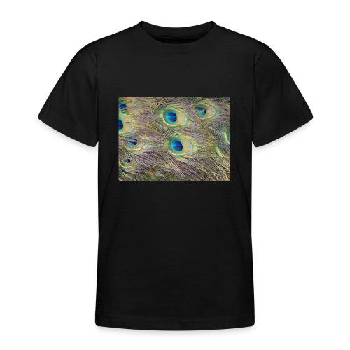 Peacock feathers - Nuorten t-paita