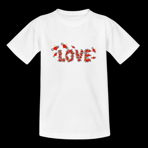 Flying Hearts LOVE - Teenage T-Shirt