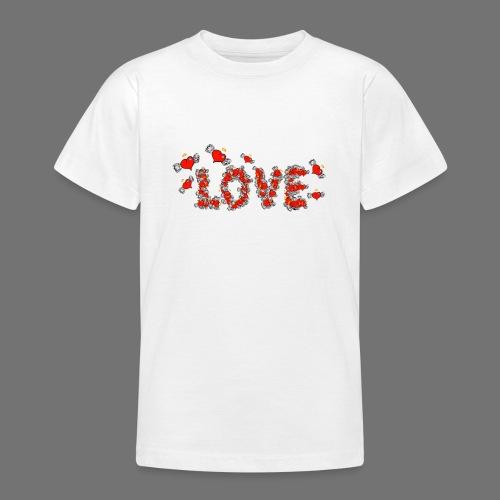Flying Hearts LOVE - Nuorten t-paita