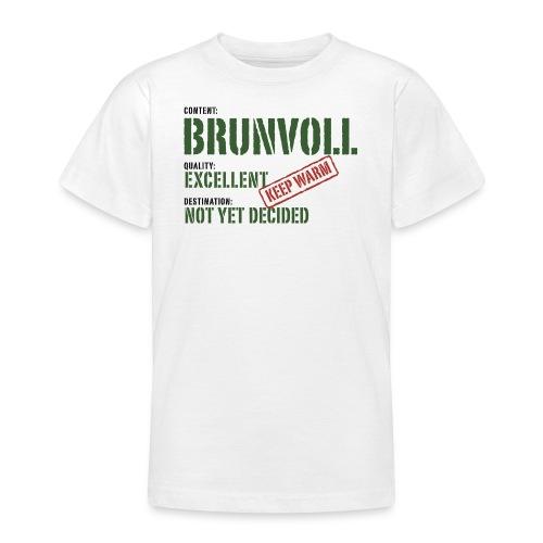 content brunvoll - T-skjorte for tenåringer