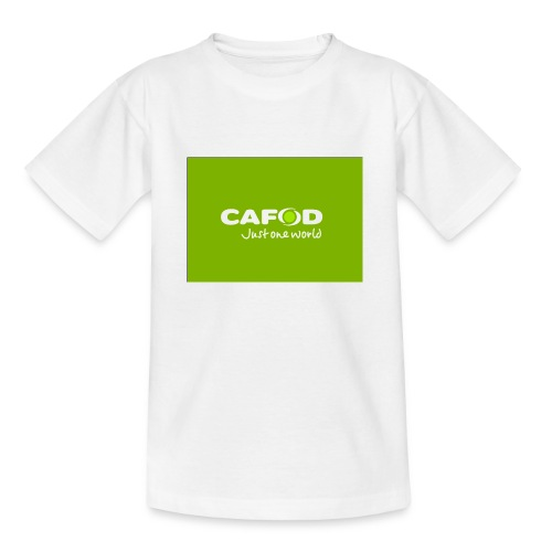CAFOD Logo greenback - Teenage T-Shirt