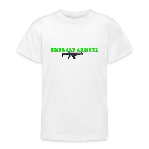 EMERALDARMYNL LETTERS! - Teenager T-shirt