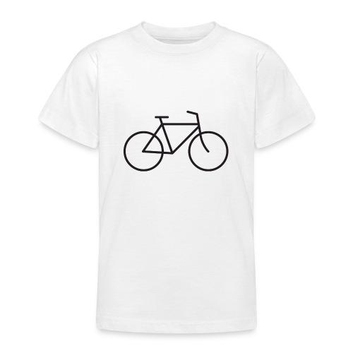 Bicycle black - Polkupyörä musta - Nuorten t-paita