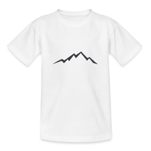 swiss alps clipart sihllouette ski mountains - Teenager T-shirt
