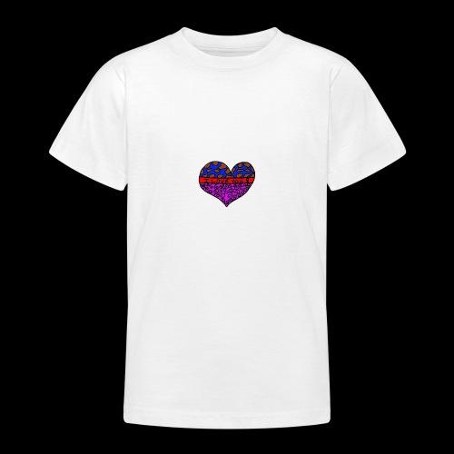Herz Leben Welt Love you - Teenager T-Shirt