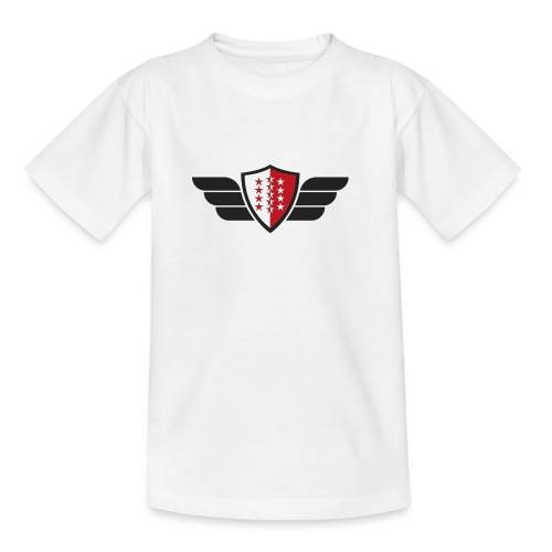 Flying Valais - Walliser Flagge mit Flügeln - Teenager T-Shirt