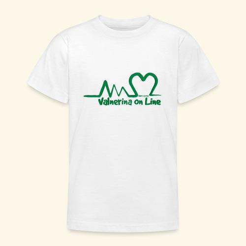 logo verde Associazione Valnerina On line - Maglietta per ragazzi