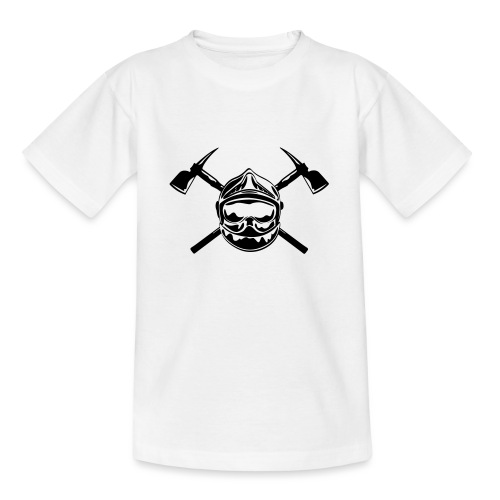 casque_pompier_2 haches - T-shirt Ado