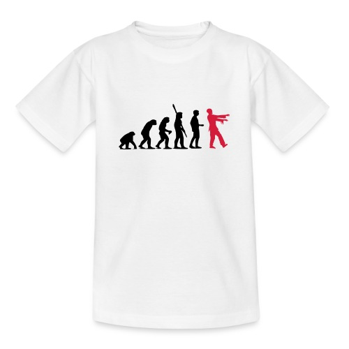 Zombie Evolution (zweifarbig) - Teenager T-Shirt