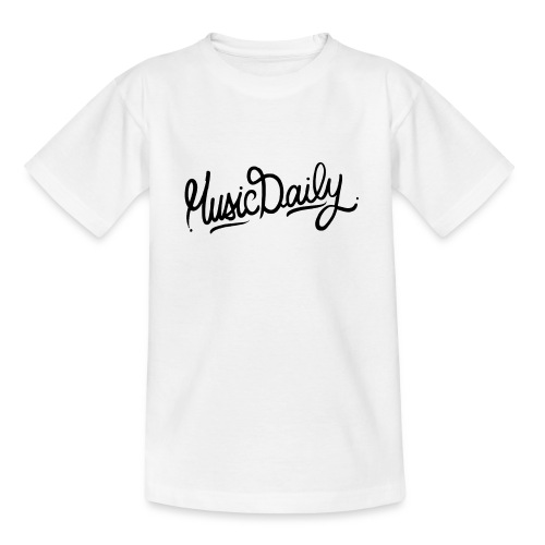 MusicDaily Logo - Teenager T-shirt