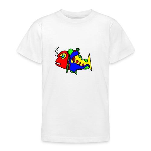 Tusche Fisch - Teenager T-Shirt
