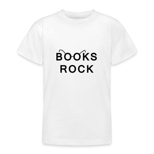 Books Rock Black - Teenage T-Shirt