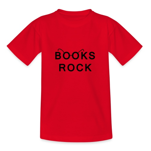 Books Rock Black - Teenage T-Shirt