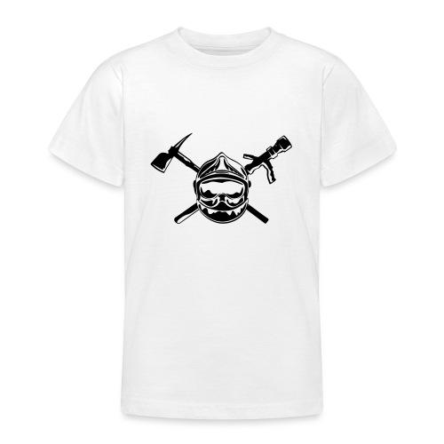 casque_pompier_hache et lance - T-shirt Ado