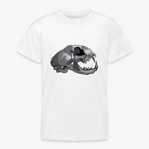cat skull - Teenage T-Shirt