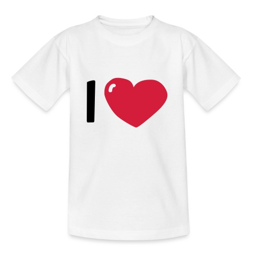 I love / I heart / I herz (Waldorf Style) - Teenager T-Shirt