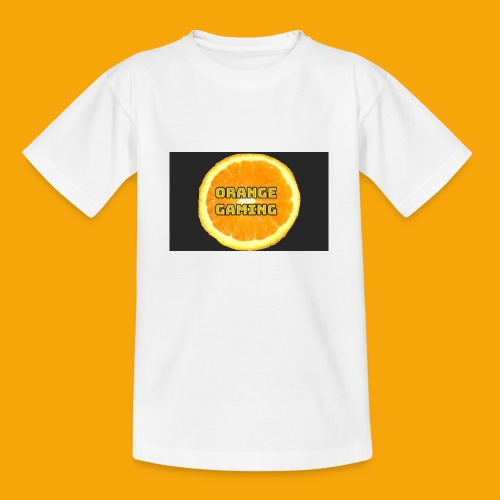 Orange_Logo_Black - Teenage T-Shirt