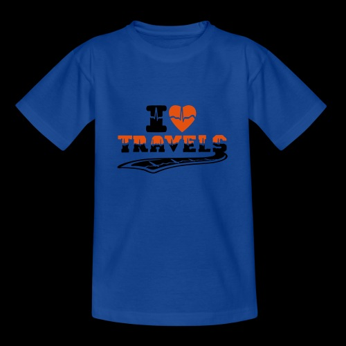 i love travels surprises 2 col - Teenage T-Shirt