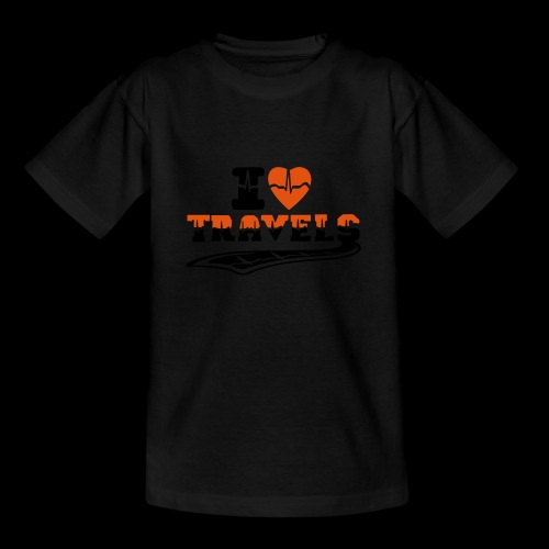 i love travels surprises 2 col - Teenage T-Shirt