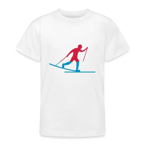 Skiløper - T-skjorte for tenåringer