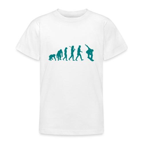 evolution_of_snowboarding - Teenager T-shirt