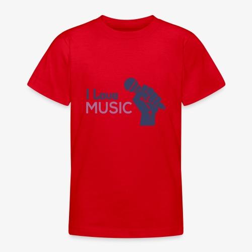 Amo la música - Camiseta adolescente