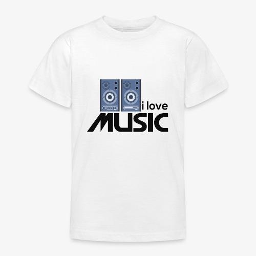 Amo la música 01 - Camiseta adolescente