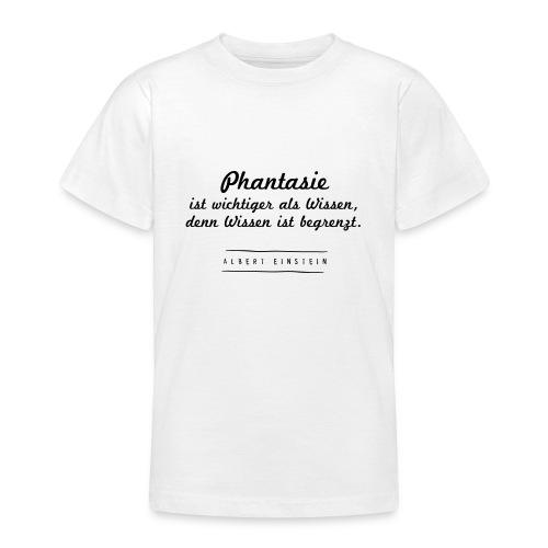 Phantasie vs. Wissen - Teenager T-Shirt