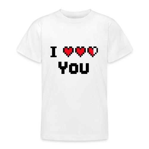 I pixelhearts you - Teenager T-shirt