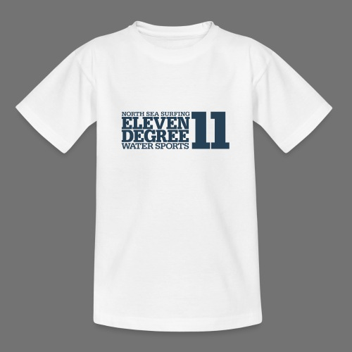 Surfing - eleven degree watersports (gray blue) - Teenage T-Shirt