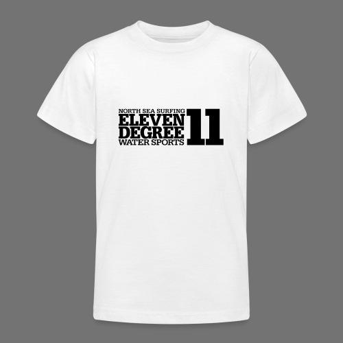 Surfing - eleven degree watersports (black) - Teenage T-Shirt