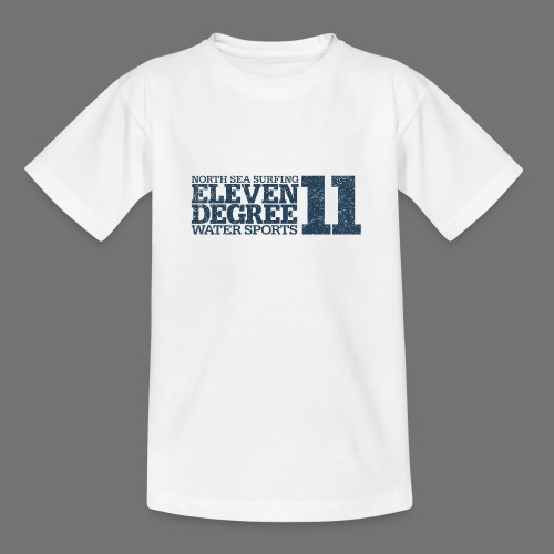 eleven degree gray blue (oldstyle) - Teenage T-Shirt