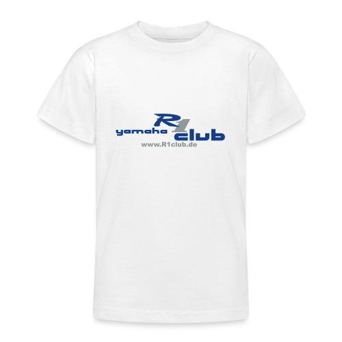R1club Logo blau - Teenager T-Shirt