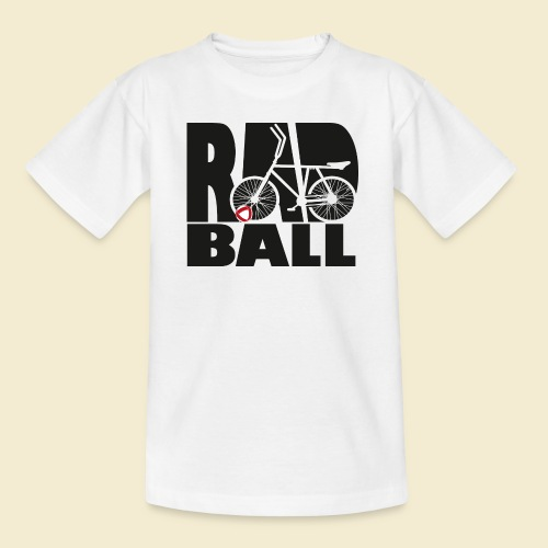 Radball   Typo Black - Teenager T-Shirt