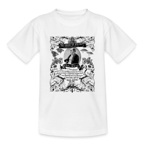 Charles Darwin Origin of Species - Teenage T-Shirt