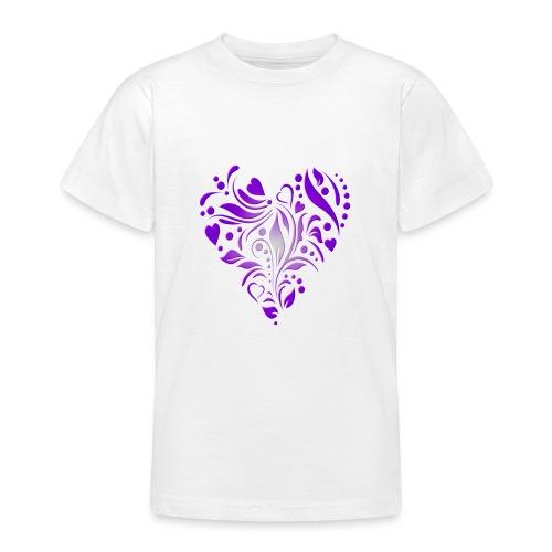 coeur mauve - T-shirt Ado