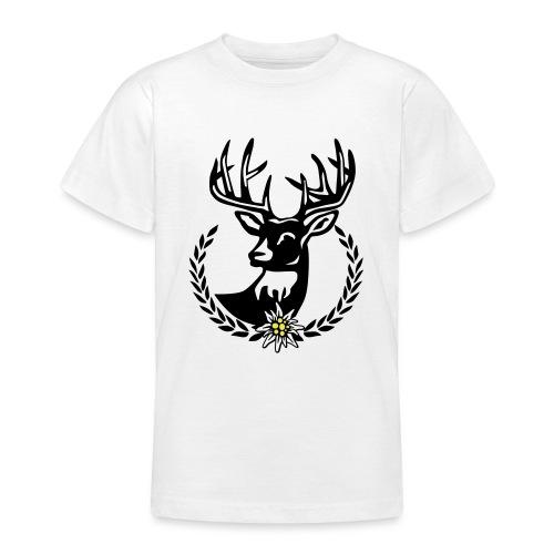 Hirsch Lorbeerkranz Wiesn Edelweiss - Teenager T-Shirt