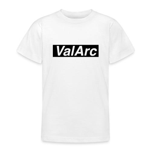ValArc Text Merch Black Background - T-shirt Ado