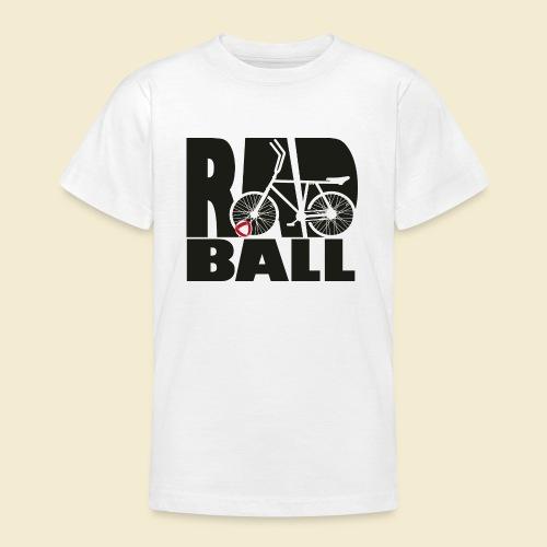Radball | Typo Black - Teenager T-Shirt