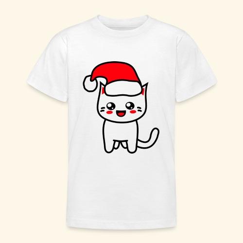 Kawaii Kitteh Christmashat - Teenager T-Shirt