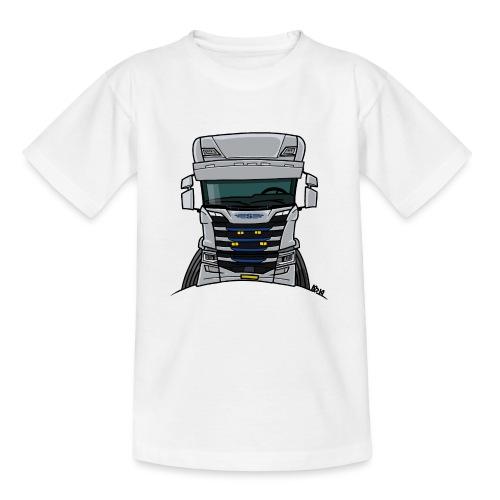0814 S truck grill wit - Teenager T-shirt
