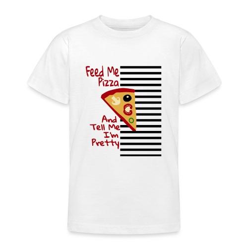 Nutri la mia pizza e dimmi che sono carina - Maglietta per ragazzi