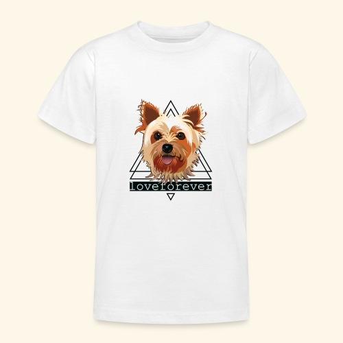 YORKIE LOVE FOREVER - Camiseta adolescente